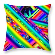 Happy Flash Throw Pillow