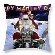 Happy Harley Days Throw Pillow