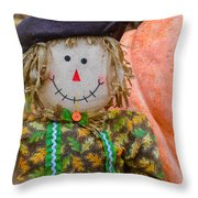 Happy Harvest Time Throw Pillow