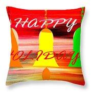 Happy Holidays 11 Throw Pillow