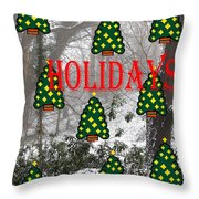 Happy Holidays 29 Throw Pillow