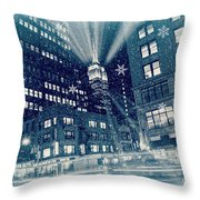 Happy Holidays From New York City Throw Pillow