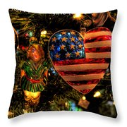 Happy Holidays To All My Faa Friends Throw Pillow
