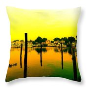 Happy Homes Throw Pillow