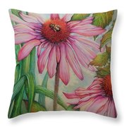 Happy Honey Bee Throw Pillow