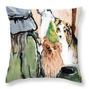 Happy Hour At County Road 120 Throw Pillow
