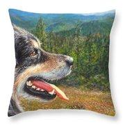 Happy In Oregon Throw Pillow