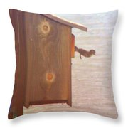 Happy Jump Day Throw Pillow