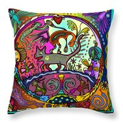 Happy Kitties Throw Pillow