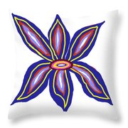 Happy Lily Bloom Throw Pillow