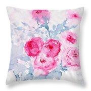 Happy Magenta -healing Roses -26 Throw Pillow