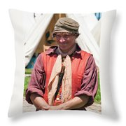 Happy Man  6744 Throw Pillow