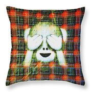 Happy Monkey Throw Pillow