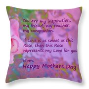 Happy Mothers Day 2 Throw Pillow