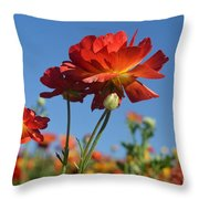 Happy Mother's Day Flowers Throw Pillow