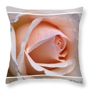 Happy Mother's Day Soft Rose Throw Pillow