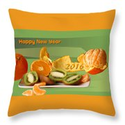Happy New Year 2016 Throw Pillow