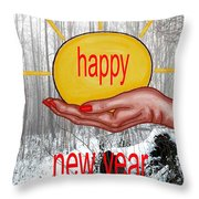Happy New Year 22 Throw Pillow