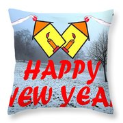 Happy New Year 24 Throw Pillow