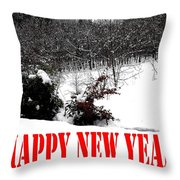 Happy New Year 34 Throw Pillow