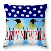 Happy New Year 5 Throw Pillow