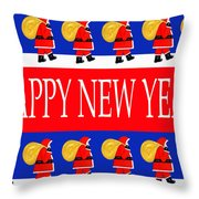Happy New Year 7 Throw Pillow