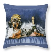 Happy New Year Throw Pillow by Barbara Keith