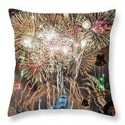 Happy New Year From Walt Disney World Throw Pillow