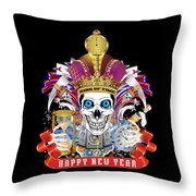 Happy New Year King Of Time Throw Pillow