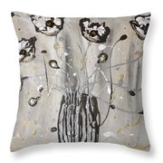 Happy Poppies Throw Pillow