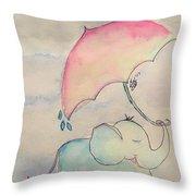 Happy Rain  Throw Pillow