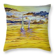 Happy Sailing Throw Pillow