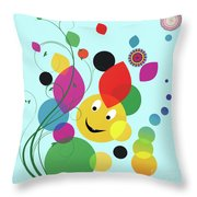 Happy Spring Image Throw Pillow