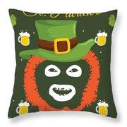 Happy St Patrick's Dave League Of Gentlemen Inspired Papa Lazarou  Throw Pillow