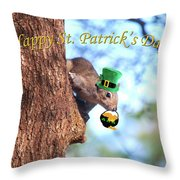 Happy St. Pat's Day Card Throw Pillow