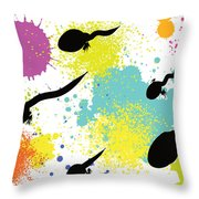 Happy Tadpoles Throw Pillow