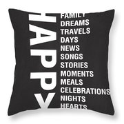 Happy Things Throw Pillow