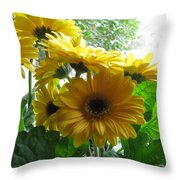 Happy To Be Yellow  Throw Pillow