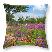 Happy Trail At The Farm Throw Pillow