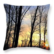 Happy Trails Sunset Throw Pillow