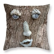 Happy Tree Throw Pillow