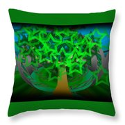 Happy Tree Throw Pillow