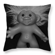 Happy Troll Throw Pillow