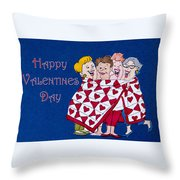 Happy Valentine Day Throw Pillow
