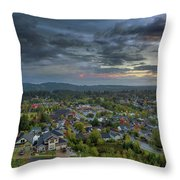 Happy Valley Residential Neighborhood During Sunset Throw Pillow