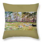 Happy Wanderers Throw Pillow
