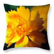 Happy Yellow Flower Throw Pillow