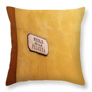 Happyness Alley Throw Pillow