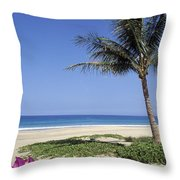 Hapuna Beach Throw Pillow
