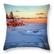 Harakka Island Sunset Throw Pillow